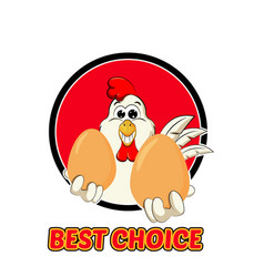 Funny rooster logo vector