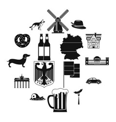 germany black simple icons vector image