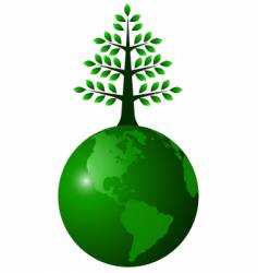 globe green vector image