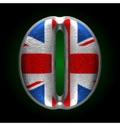 Great Britain metal figure o vector image