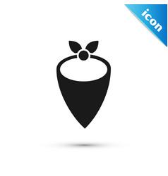 Grey cowboy bandana icon isolated on white vector