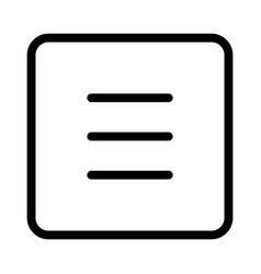 hamburger menu bar with parallel navigation button vector image
