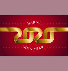 happy new year 2020 the inscription is made of vector image