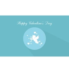 Happy Valentine Day with cupid vector