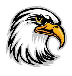 hawk eagle head usa logo mascot 05 vector image