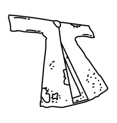 Hazrat fatimah ra clothes icon doodle hand drawn vector