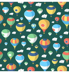 Hot Air Balloons - Seamless Pattern vector