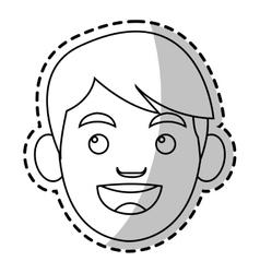 Isolated boy cartoon head design vector