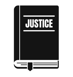Justice book icon simple style vector