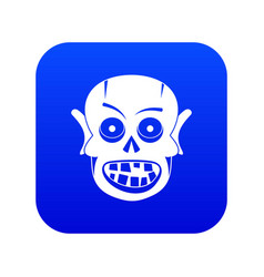 living dead icon digital blue vector image