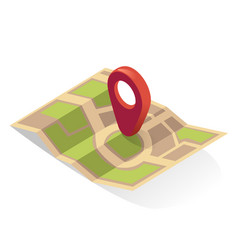map pin gps icon location pointer indicator vector image