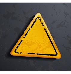 Metal warning sign vector