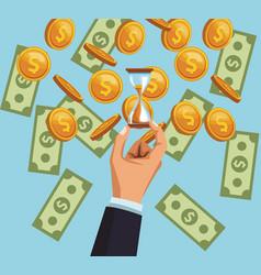 money savings cartoon vector image