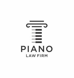 Piano law logo design vector