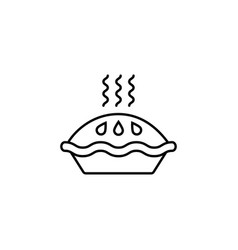 pie line icon food drink elements vector image