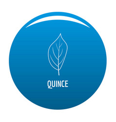 Quince leaf icon blue vector