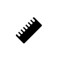 ruler tool icon vector image