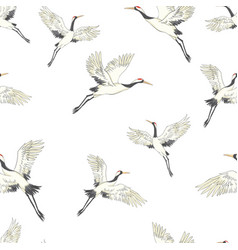 Seamless pattern background with tropical birds vector