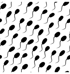 seamless texture- spermatozoons vector image