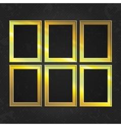 set gold frames vector image
