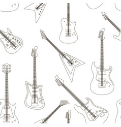 set of bright electric guitars pattern vector image