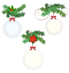 Set of christmas labls vector