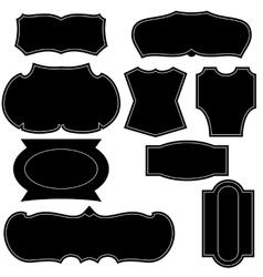 set vintage logo shapes vector image