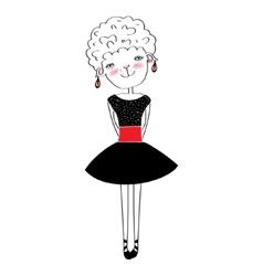 Sheep fashion-monger vector image vector image