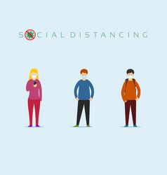 Social-distancing vector