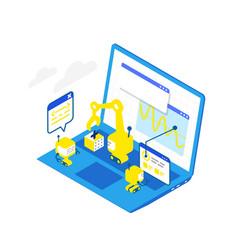 software development levels technological vector image