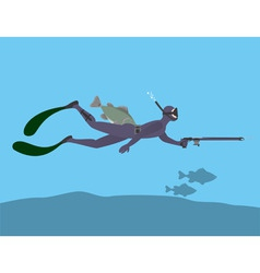 spearfishing vector image