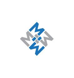 square letter m vector image