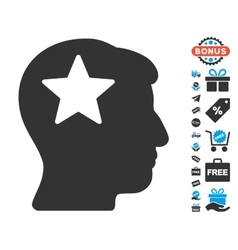 Star Head Icon With Free Bonus vector image