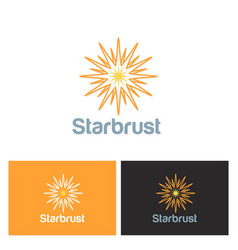 Star shine solar logo vector