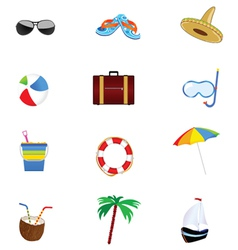summer icon art part two vector image