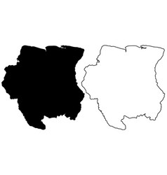suriname map vector image
