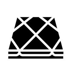 Tile layer floor glyph icon vector