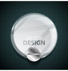 Transparent glass circle vector image