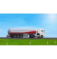 Truck with fuel vector image