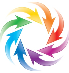 Turning colorful arrows vector