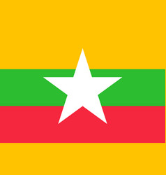 union of myanmar or burma flag vector image
