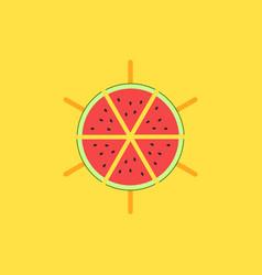 watermelon logo mockup slices vector image
