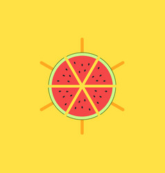 watermelon logo mockup slices watermelon on a vector image