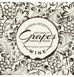 Wine list design layout on chalkboard vector image