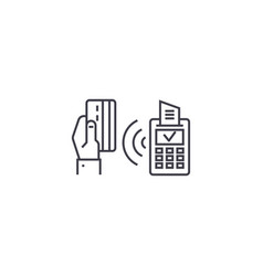 wireless payment line icon sign vector image