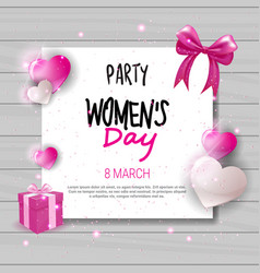 Womens day party invitation holiday celebration vector