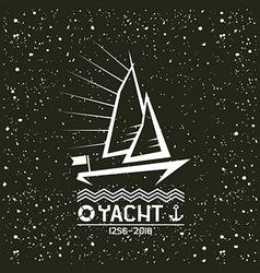Yacht emblem vector