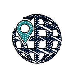 earth globe diagram icon image vector image vector image