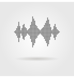 equalizer icon with shadow vector image vector image