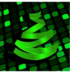 Festive background with green Christmas-tree made vector image vector image